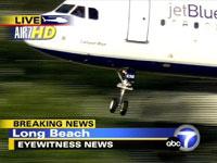 Jet Blue flight #292 preparing for emergency landing