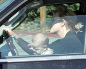 Britney Spears driving