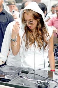 Lindsay Lohan at DJ Spin-off for Gap in NY