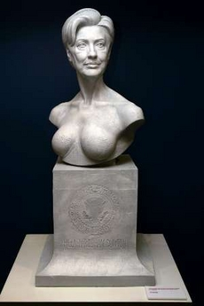 Hilary Clinton bust