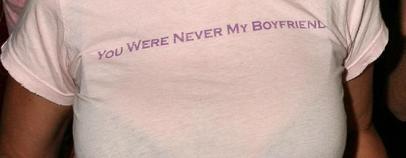 Tara Reid in a T-shirt