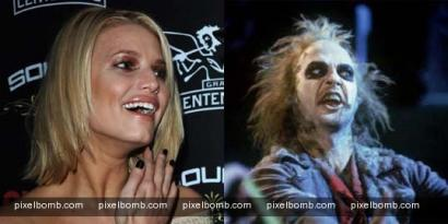 Jessica Simpson is Beetlejuice