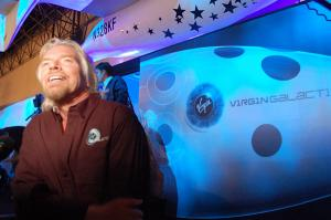 Richard Branson unveiling SpaceShipTwo