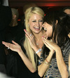 Paris Hilton and Nicole Richie Playstation 3 launch party