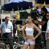 Adriana Lima exposed her pokies and bikini in a video shoot