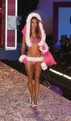 Alessanda Ambrosio exposed her pink bra and panties