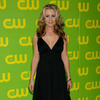 Beverley Mitchell exposed her cleavage in a black dress