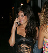 Brooke Burke exposed her black bra