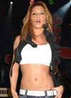 Cheryl Tweedy exposed her lace bra in a tank top