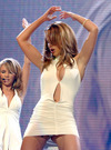 Cheryl Tweedy exposed her white panties upskirt