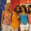 Girls Aloud exposed their cleavage