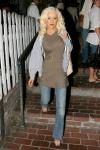 Christina Aguilera exposed her sexy bra in a see through shirt