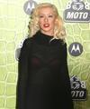Christina Aguilera exposed her sexy red bra again in a see through sweater