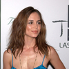 Eliza Dushku exposed her cleavage in a silk dress
