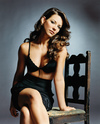 Evangeline Lilly exposed her black bra