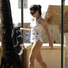 Evangeline Lilly exposed her bikini body
