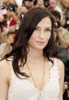 Famke Janssen exposed her cleavage in Cannes