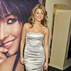 Holly Valance exposed her cleavage in a silver dress