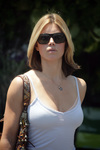 Jessica Biel exposed her lacy bra and cleavage