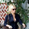 Jessica Simpson exposed her leopard bra