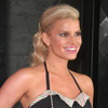 Jessica Simpson exposed in a tiny skirt