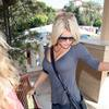 Jessica Simpson exposed her cleavage in a tight shirt