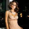 Josie Maran exposed her satin and lace lingerie