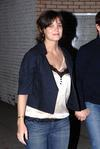 Katie Holmes exposed her nursing bra