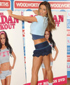 Katie Price exposed her blue panties upskirt
