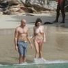 Kelly Brook exposed her topless boobs and bikinis