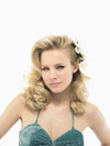 Kristen Bell exposed her cleavage in a photoshoot