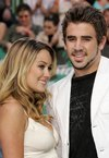 Lauren Conrad exposed her cleavage in a white dress