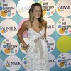 Lauren Conrad exposed her cleavage in a lace dress