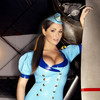 Lucy Pinder exposed her cleavage in latex