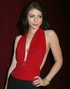 Michelle Trachtenberg exposed her plunging cleavage