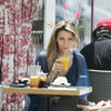 Mischa Barton exposed her white panties upskirt
