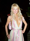 Paris Hilton exposed her cleavage in Cannes