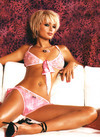 Paris Hilton exposed her pink bra and panties