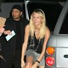 Paris Hilton exposed her red panties upskirt