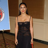 Salma Hayek exposed her lace bra in a see through dress
