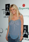 Tara Reid exposed her boobs in a see through shirt