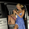 Tara Reid exposed her beige panties upskirt