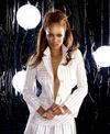 Tyra Banks exposed her cleavage