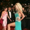Victoria Silvstedt exposed her pink panties upskirt
